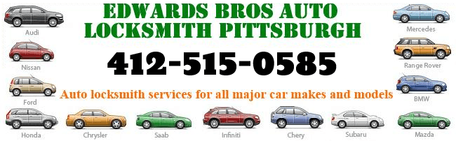 Edwards Bros Auto Locksmith Pittsburgh 412-515-0585 auto locksmith serviecs for all major car makes and models